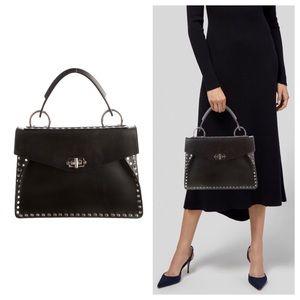 Proenza Schouler Medium Hava Studded Black Bag